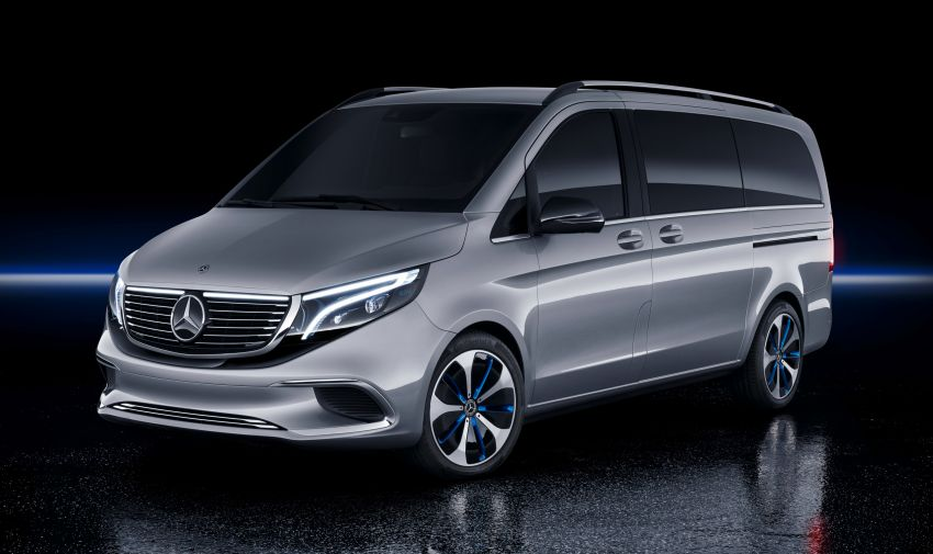 Mercedes-Benz Concept EQV unveiled in Geneva – full-electric MPV with a 400 km operating range Image #929890
