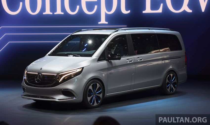 Mercedes-Benz Concept EQV unveiled in Geneva – full-electric MPV with a 400 km operating range Image #929854