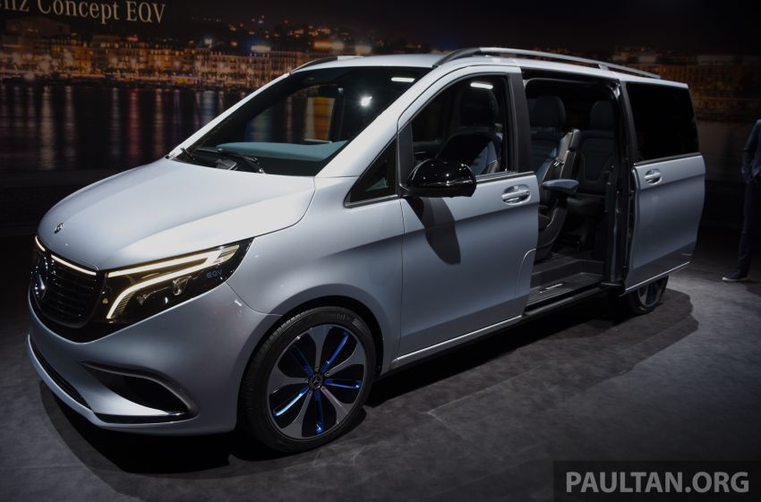 Mercedes-Benz Concept EQV unveiled in Geneva – full-electric MPV with a 400 km operating range Image #929856