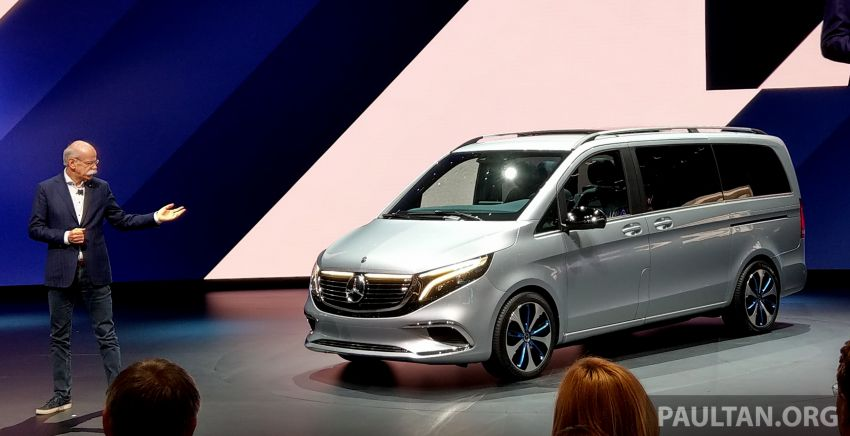 Mercedes-Benz Concept EQV unveiled in Geneva – full-electric MPV with a 400 km operating range Image #929857