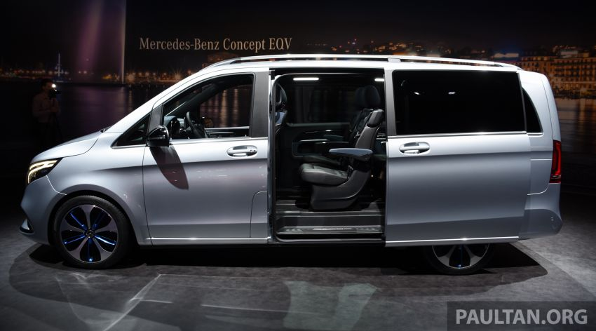 Mercedes-Benz Concept EQV unveiled in Geneva – full-electric MPV with a 400 km operating range Image #929858