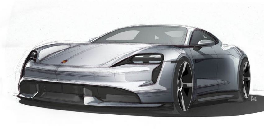 Porsche Taycan sketches revealed – September debut Image #934967