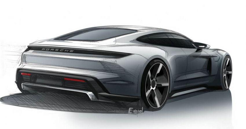 Porsche Taycan sketches revealed – September debut Image #934968