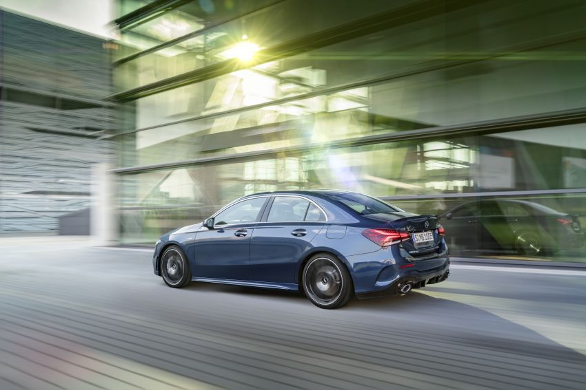 Mercedes Benz Amg >> V177 Mercedes-AMG A35 4Matic Sedan revealed with 306 hp and 420 litre boot; 0-100 km/h in 4.8 ...