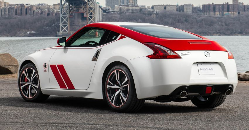 2020 Nissan 370Z 50th Anniversary Edition revealed in New York – a homage to the legendary #46 BRE racer Image #949323