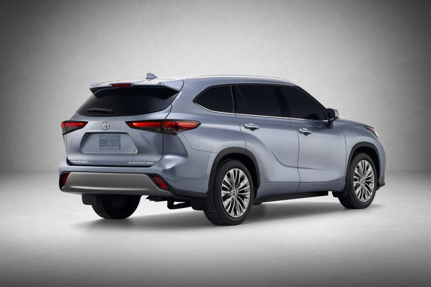 2020 Toyota Highlander debuts at NYIAS – three-row SUV gains TNGA platform, 3.5L V6 and 2.5L hybrid Image #948722
