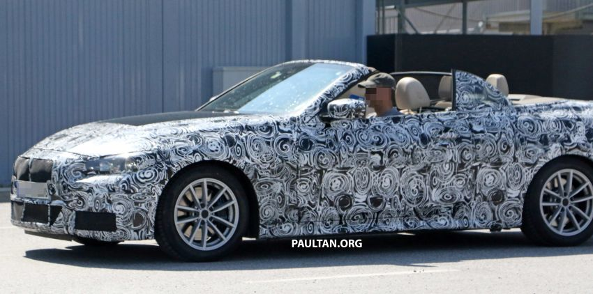 SPIED: BMW 4 Series Convertible – top-down testing Image #950656