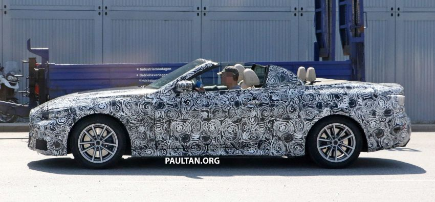 SPIED: BMW 4 Series Convertible – top-down testing Image #950657