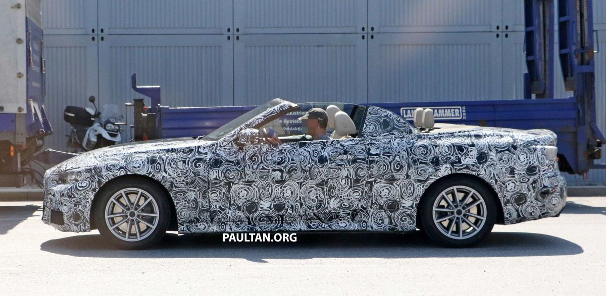 SPIED: BMW 4 Series Convertible - top-down testing