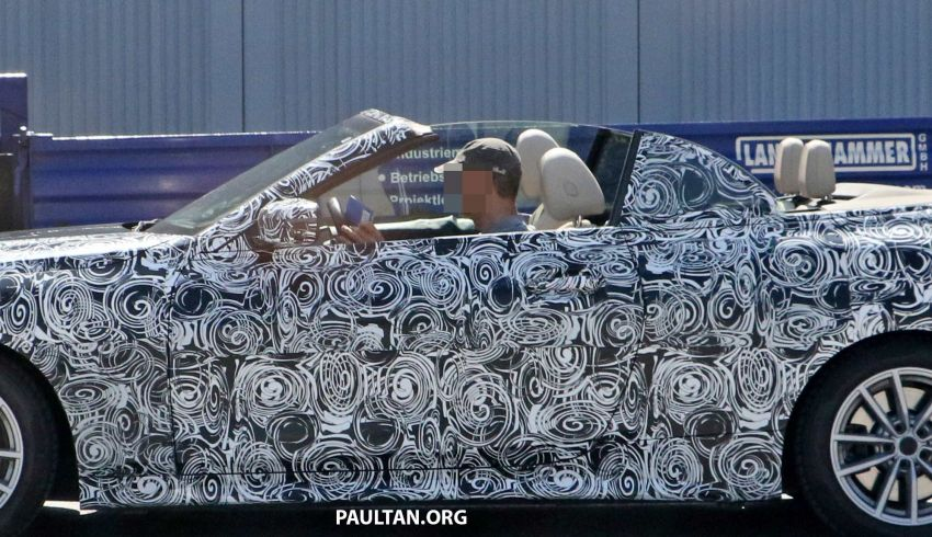 SPIED: BMW 4 Series Convertible – top-down testing Image #950659