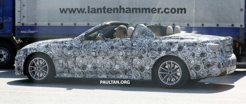 SPIED: BMW 4 Series Convertible – top-down testing Image #950660
