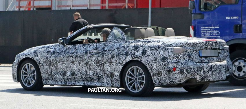 SPIED: BMW 4 Series Convertible – top-down testing Image #950664
