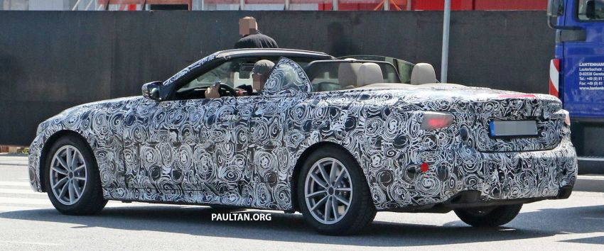 SPIED: BMW 4 Series Convertible – top-down testing Image #950670
