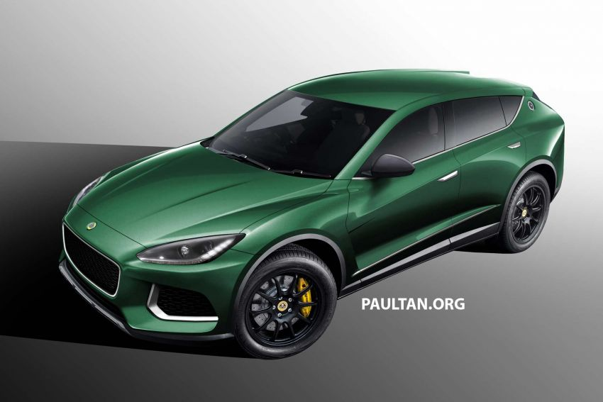 Lotus SUV gets rendered based on patent drawings Image #954318