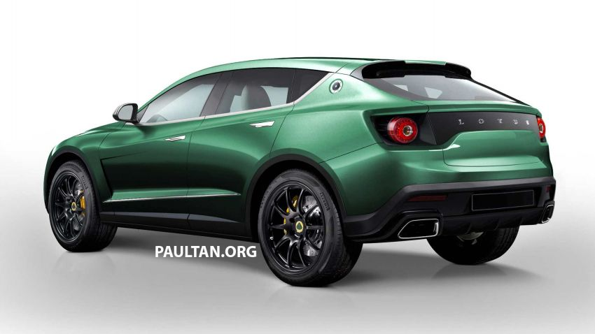 Lotus SUV gets rendered based on patent drawings Image #954507
