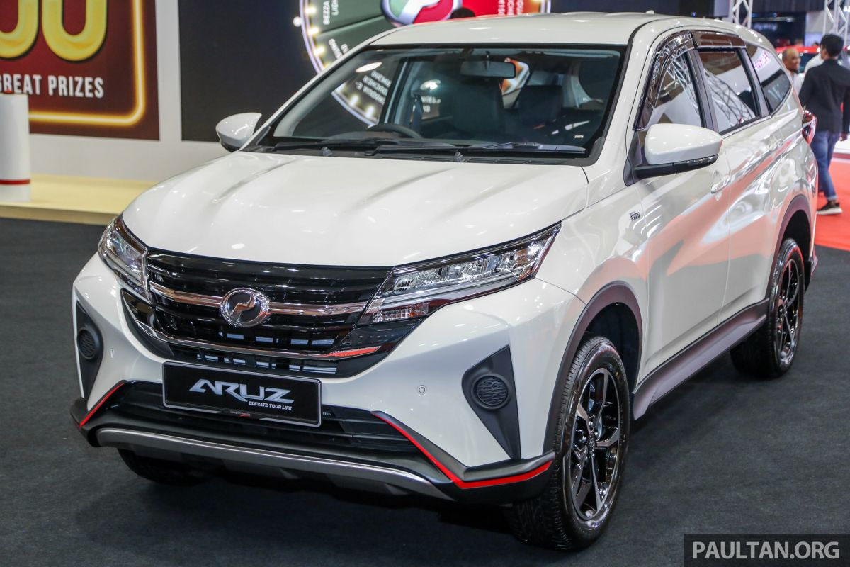 Perodua Aruz SUV new GearUp accessories - front and rear