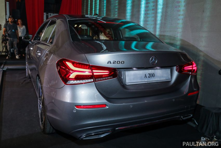 V177 Mercedes-Benz A-Class Sedan launched in Malaysia – A200 and A250 at RM230k and RM268k Image #944527