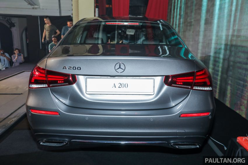 V177 Mercedes-Benz A-Class Sedan launched in Malaysia – A200 and A250 at RM230k and RM268k Image #944530