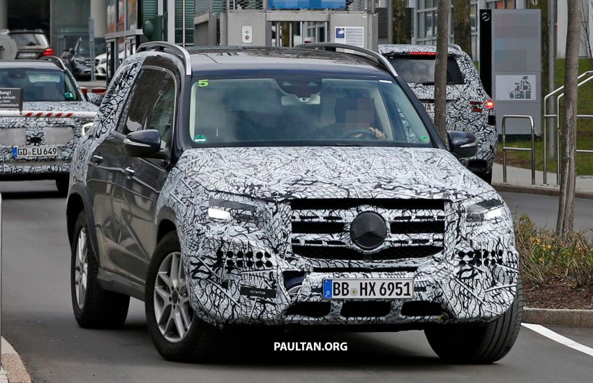 SPYSHOTS: Next Mercedes-Benz GLS in less camo Image #945138