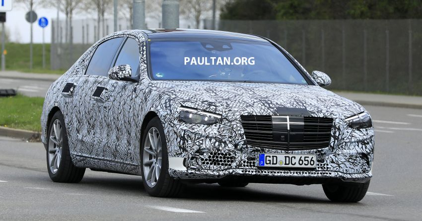 SPIED: W223 Mercedes-Benz S-Class seen in Stuttgart Image #947684