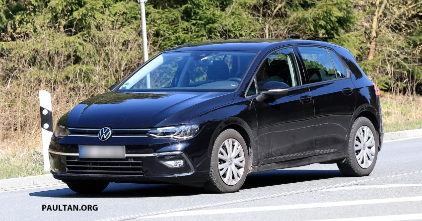 SPIED: Volkswagen Golf Mk8 drops camo, shows face Image #954738