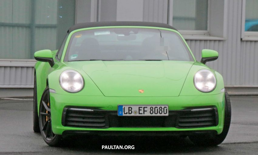 SPIED: 992-gen Porsche 911 Targa on road and 'Ring Image #950942