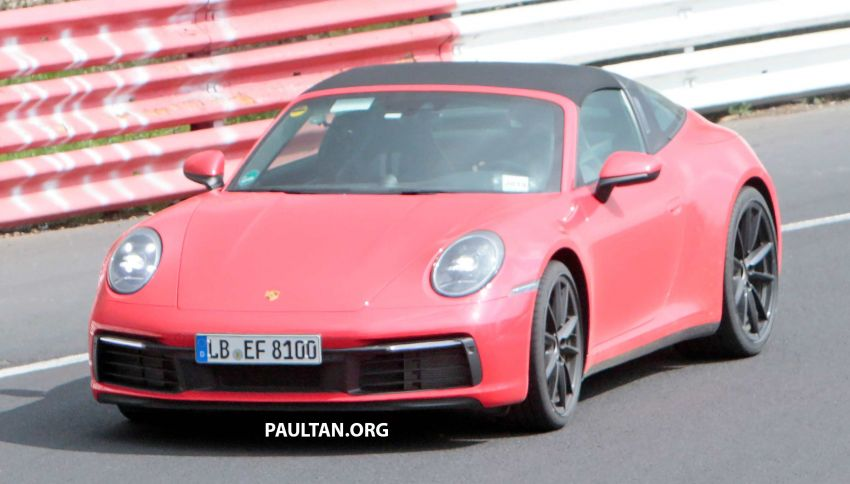 SPIED: 992-gen Porsche 911 Targa on road and 'Ring Image #950956