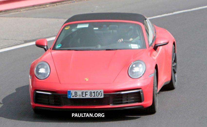 SPIED: 992-gen Porsche 911 Targa on road and 'Ring Image #950957
