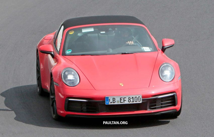 SPIED: 992-gen Porsche 911 Targa on road and 'Ring Image #950959