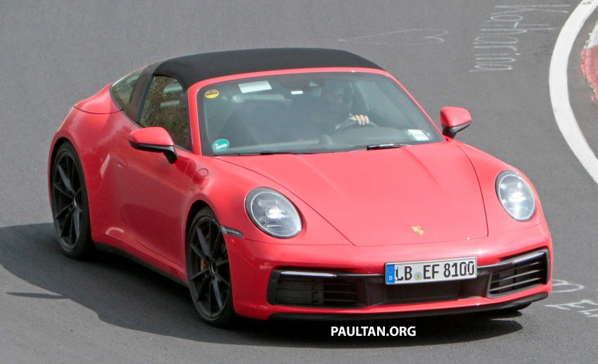 SPIED: 992-gen Porsche 911 Targa on road and 'Ring Image #950960