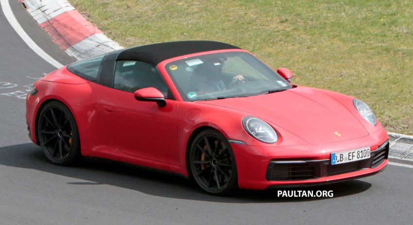 SPIED: 992-gen Porsche 911 Targa on road and 'Ring Image #950962