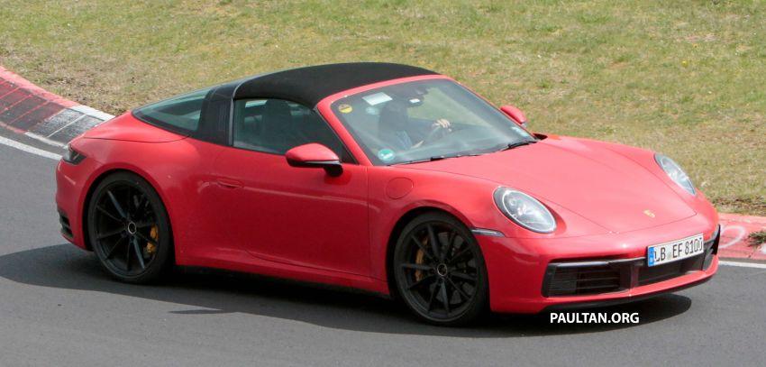 SPIED: 992-gen Porsche 911 Targa on road and 'Ring Image #950963