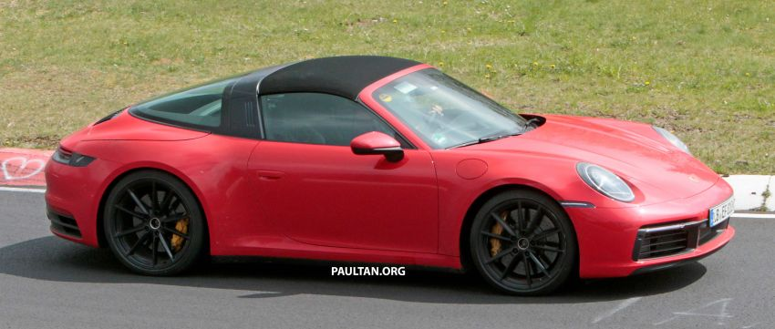 SPIED: 992-gen Porsche 911 Targa on road and 'Ring Image #950964