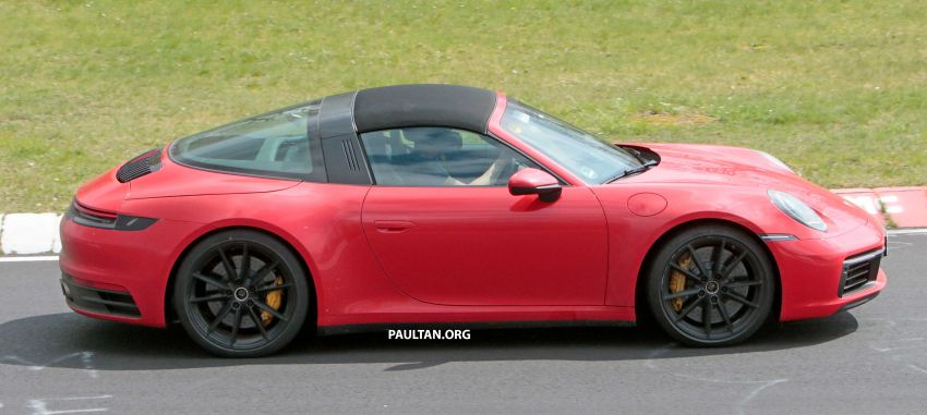 SPIED: 992-gen Porsche 911 Targa on road and 'Ring Image #950966