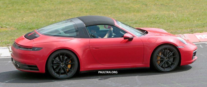 SPIED: 992-gen Porsche 911 Targa on road and 'Ring Image #950967