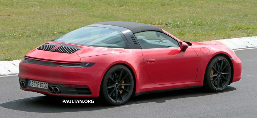 SPIED: 992-gen Porsche 911 Targa on road and 'Ring Image #950969