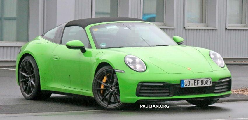 SPIED: 992-gen Porsche 911 Targa on road and 'Ring Image #950944