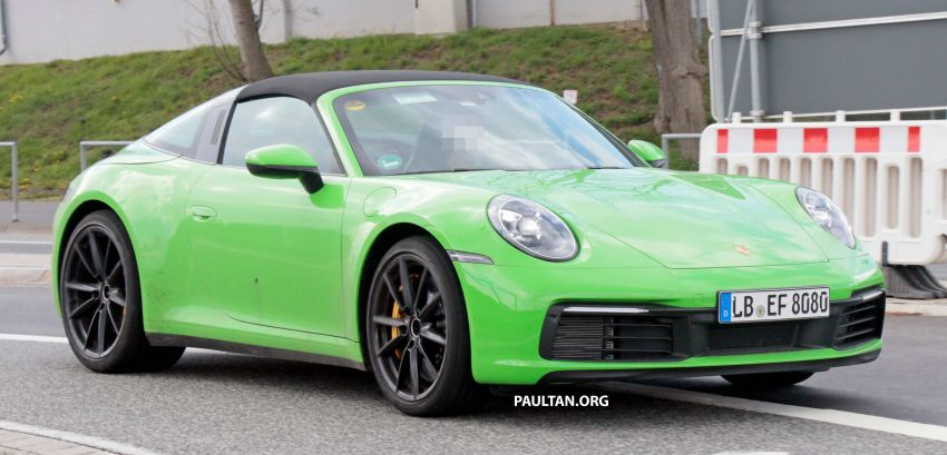 SPIED: 992-gen Porsche 911 Targa on road and 'Ring Image #950973