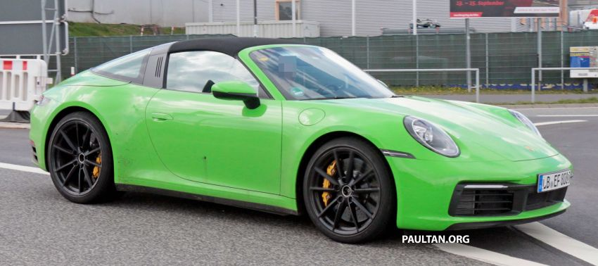 SPIED: 992-gen Porsche 911 Targa on road and 'Ring Image #950974