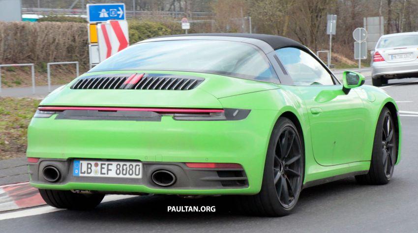 SPIED: 992-gen Porsche 911 Targa on road and 'Ring Image #950979