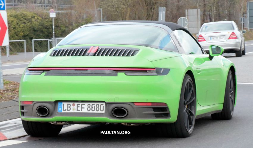 SPIED: 992-gen Porsche 911 Targa on road and 'Ring Image #950980