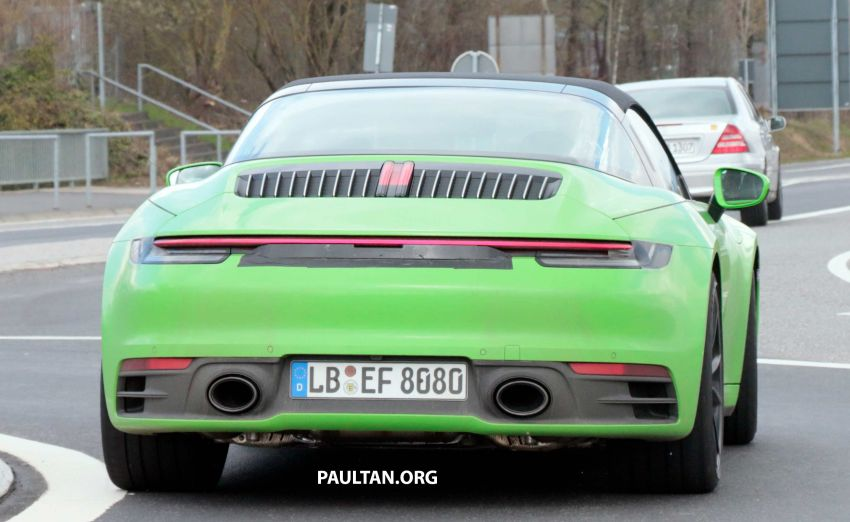 SPIED: 992-gen Porsche 911 Targa on road and 'Ring Image #950981