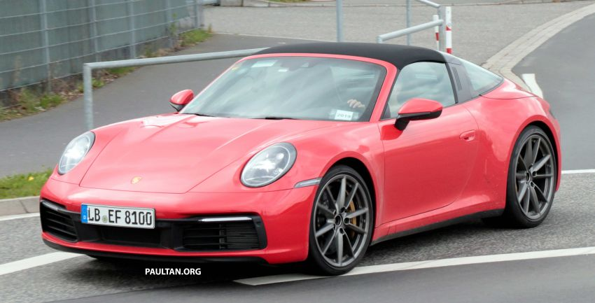 SPIED: 992-gen Porsche 911 Targa on road and 'Ring Image #950983