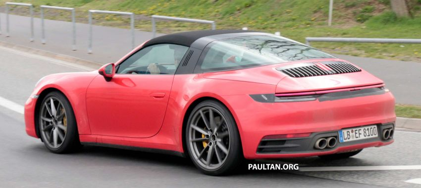 SPIED: 992-gen Porsche 911 Targa on road and 'Ring Image #950990