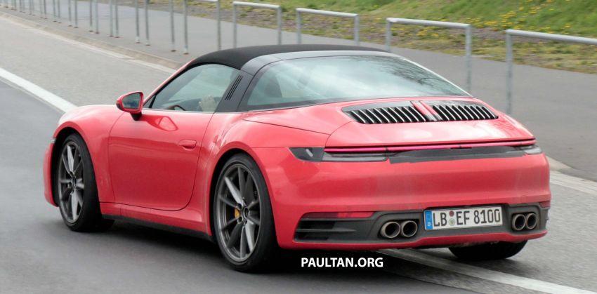 SPIED: 992-gen Porsche 911 Targa on road and 'Ring Image #950991