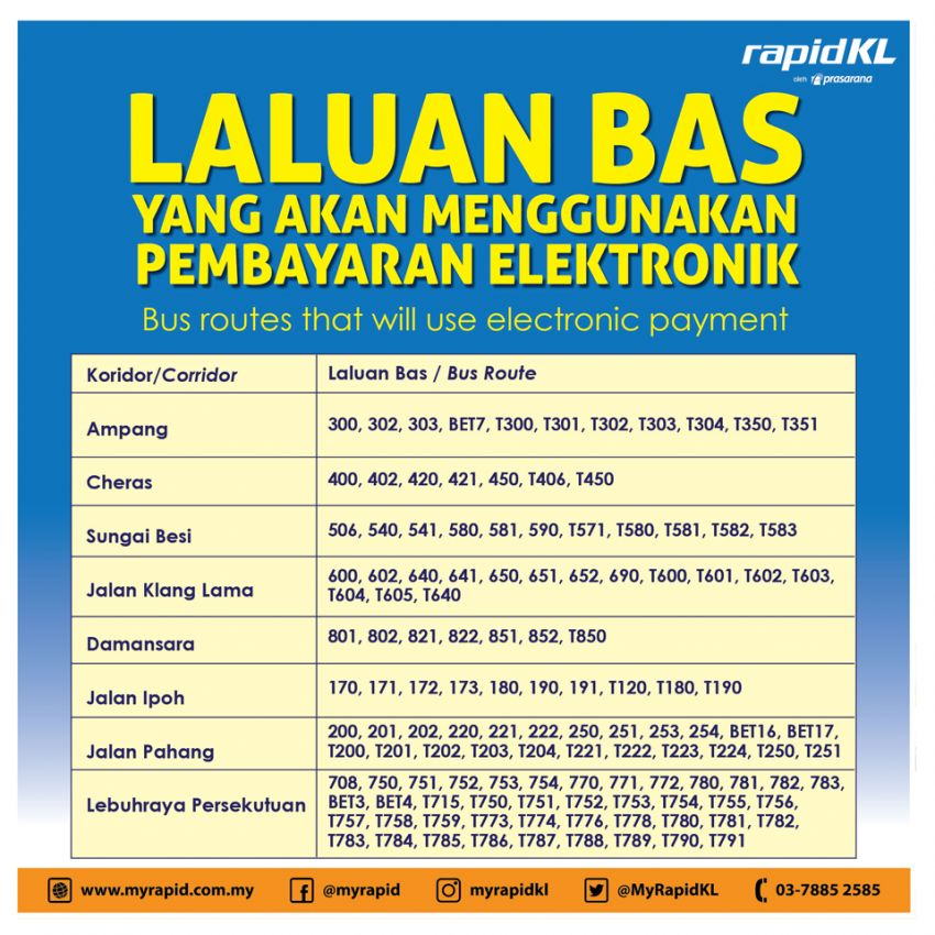 RapidKL buses to go cashless from next week, Apr 15 Image #944364