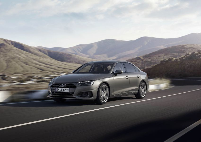 B9 Audi A4 gets a second facelift – revised styling and equipment list; new 12-volt mild hybrid engines Image #959627