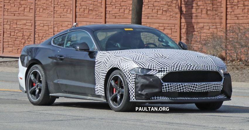 spied  ford mustang bullitt facelift model due paul tan image