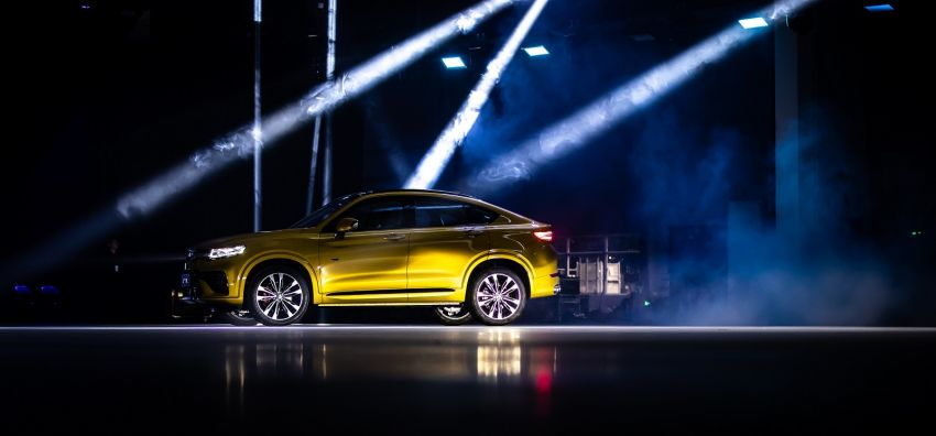 """Geely Xingyue launched in China – FY11 SUV """"coupe"""" gets 235 hp 2.0L, mild and plug-in hybrids, Face ID Image #964319"""
