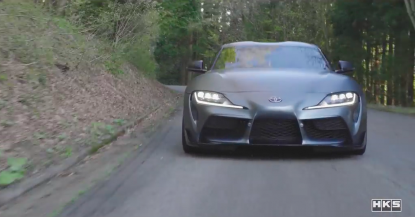 VIDEO: HKS Tests Exhaust, Suspension For A90 Supra Paul